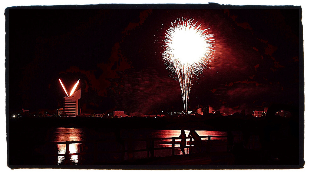 Fireworks over Bunbury